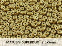 SuperDuo 2.5x5mm Satin Metallic Olive Gold - 10 g