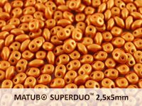 SuperDuo 2.5x5mm Satin Metallic Gold - 10 g