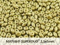 SuperDuo 2.5x5mm Satin Metallic Olivine - 10 g