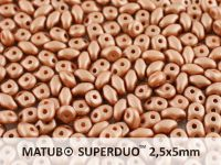 SuperDuo 2.5x5mm Satin Metallic Light Peach - 10 g