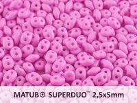 SuperDuo 2.5x5mm Light Purple Silk Mat - 100 g