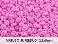 SuperDuo 2.5x5mm Light Purple Silk Mat - 100 g