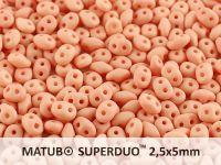 SuperDuo 2.5x5mm Light Peach Silk Mat - 100 g