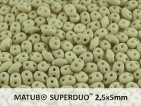 SuperDuo 2.5x5mm Light Olivine Beige Silk Mat - 100 g