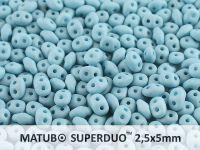 SuperDuo 2.5x5mm Blue Turquoise Silk Mat - 100 g