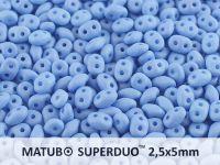 SuperDuo 2.5x5mm Sapphire Silk Mat - 10 g