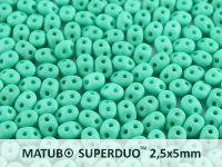 SuperDuo 2.5x5mm Green Turquoise Silk Mat - 10 g