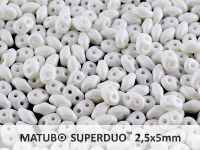 SuperDuo 2.5x5mm White Silk Mat - 10 g