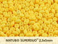 SuperDuo 2.5x5mm Opaque Jonquil Silk Mat - 10 g