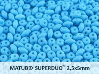 SuperDuo 2.5x5mm Azure Blue Silk Mat - 100 g