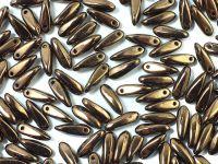 Dagger Beads Dark Bronze 10x3mm - 20 sztuk
