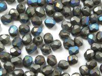 FP 4mm Crystal Glittery Graphite Matted - 40 sztuk