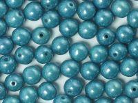 Round Beads Turquoise Blue Terracotta 6 mm - 20 sztuk