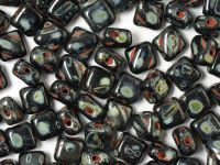 Silky Beads 6mm Jet Travertin - 20 sztuk