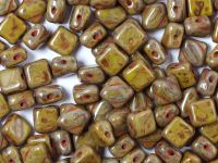 Silky Beads 6mm Opaque Olivine Travertin - 20 sztuk