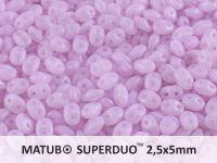 SuperDuo 2.5x5mm Opal Lila - 10 g