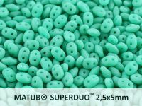 SuperDuo 2.5x5mm Matte Turquoise - 10 g