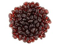 miniDUO 2x4mm Luster - Transparent Siam Ruby - 50 g
