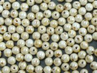 Round Beads Opaque - Luster Picasso 4 mm - opakowanie