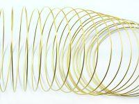 Stalowy drut pamięciowy na rękę złoty - 20 żeberek