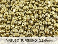 SuperUno 2.5x5mm Yellow Gold - Crystal - 100 g