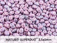 SuperDuo 2.5x5mm Opaque White - Nebula - 10 g
