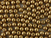 Round Beads Matte Metallic Flax 4 mm - 100 g