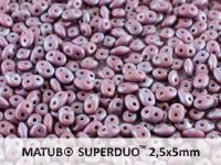SuperDuo 2.5x5mm Opaque Lt Purple - Nebula Mat - 10 g