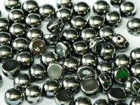 2-hole Cabochon Chrome 6mm - 2 sztuki