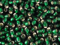 TOHO Round 6o-36F Silver-Lined Frosted Green Emerald - 10 g