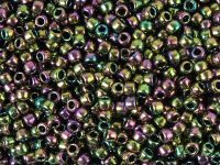 TOHO Round 8o-509 Higher-Metallic Purple-Green Iris - 10 g