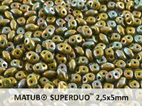 SuperDuo 2.5x5mm Opaque Olivine - Nebula - 10 g