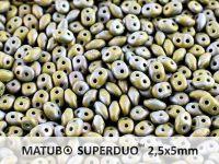 SuperDuo 2.5x5mm Opaque Olivine - Nebula Mat - 100 g