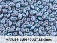 SuperDuo 2.5x5mm Blue Turquoise - Nebula Mat - 10 g