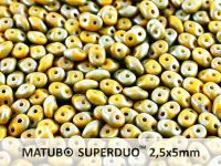 SuperDuo 2.5x5mm Lemon - Nebula Mat - 100 g