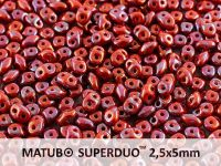 SuperDuo 2.5x5mm Opaque Red - Nebula - 10 g