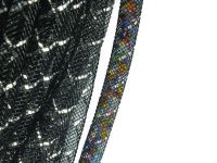 Siatka jubilerska czarno-srebrna 4 mm - 1 metr