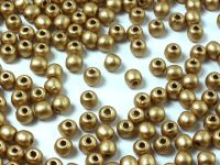Round Beads Matte Metallic Flax 3 mm - 100 g