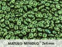 miniDUO 2x4mm Gold Shine Dark Olive Green - 5 g
