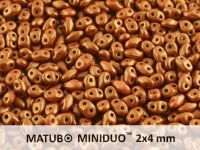 miniDUO 2x4mm Gold Shine Brownish Red - 50 g