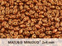 miniDUO 2x4mm Gold Shine Brownish Red - 50 g