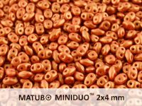 miniDUO 2x4mm Gold Shine Brick Red - 50 g