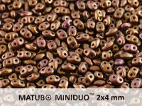 miniDUO 2x4mm Gold Shine Saddle Brown - 5 g