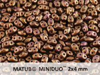 miniDUO 2x4mm Gold Shine Saddle Brown - 50 g