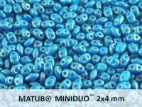 miniDUO 2x4mm Gold Shine Cornflower Blue - 50 g