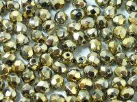 FP 4mm Yellow Gold - Crystal - 40 sztuk