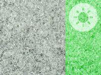 TOHO Round 11o-2700 Glow In The Dark - Crystal - Green Splash - 10 g