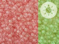 TOHO Round 8o-2720 Glow In The Dark - Pink - Yellow Green - 10 g