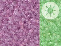TOHO Round 8o-2724 Glow In The Dark - Dark Pink - Green Pink - 10 g