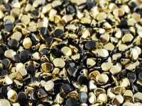 Pinch Beads Gold 1/2 Coated Jet 5x3 mm - 50 g